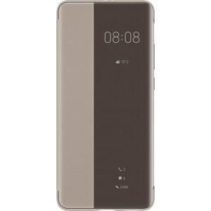 Huawei 51993783 S-View knižkové púzdro pre Huawei P40 Pro, hnedý