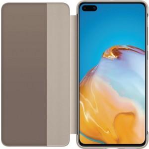 Huawei 51993705 S-View knižkové púzdro pre Huawei P40, hnedý