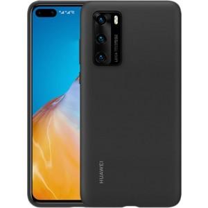 Huawei 51993719 silikónové púzdro pre Huawei P40, čierne