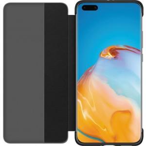 Huawei 51993781 S-View knižkové púzdro pre Huawei P40 Pro, čierne